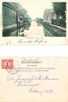 Ansichtkaart uit 1901. Binnenslootje, Koog a/d Zaan