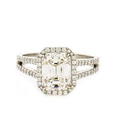 Wedding inspiration: diamond solitaire white gold platinum engagement ring (mw)