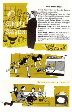 https://flic.kr/p/2AKBYQ | GHK: Quick 'N' Easy 4 | Good Housekeeping's Quick 'N' Easy Cook Book, illustrated by Lou Peters. 1958.