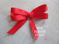 How to Make Bows with Ribbon   And here are the final versions of the bows added to some projects.