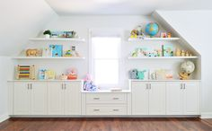 Adding Built-Ins & Floating Shelves Around A Window Niche | Young House Love | Bloglovin'