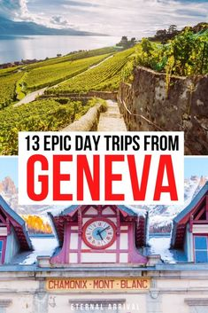 Planning to visit Geneva, Switzerland? Check out these fun day trips from Geneva. Including the Swiss Riviera towns of Montreux and Lausanne and Alsace towns in France like Annecy and Chamonix. Geneva day trips | places to visit near Geneva | places to visit in Switzerland | Switzerland itinerary | things to do in Switzerland | things to do in Geneva | day trips near Geneva | Geneva excursions Switzerland Travel Guide, Switzerland Itinerary, Geneva Switzerland, Top Travel Destinations, Europe Travel Guide, European Vacation, European Travel, Travel Ideas, Travel Inspiration
