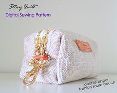 easy to sew bag pattern, handbag pattern, purse pattern, quilted bag, pouch pattern, card holder, sewing pattern, sewing tutorial, digital pdf, tutorial, Story Quilt, long wallet, wallet for women, pattern pile, zipper purse, zipper pouch, zip wallet, minimalist wallet, cute pouch