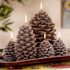 pine cone candles