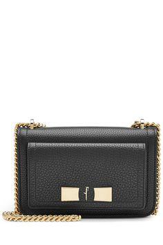 Salvatore Ferragamo Ginevra Leather Shoulder Bag