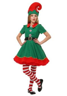 girls holiday elf christmas costume girl elf costume cute girl halloween costumes christmas elf - Best Christmas Costumes