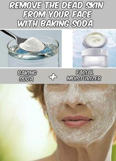 Learn how to remove the dead skin from your face with baking soda.