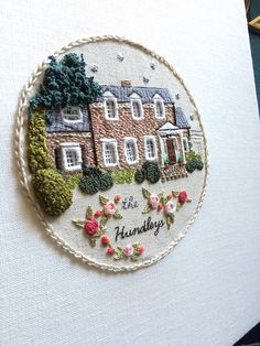 Embroidery Art | Seattle | The Monsters Louge | Houses