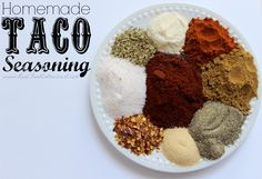 This homemade taco seasoning mix is super easy to make, MUCH healthier, less expensive, AND it tastes way better than store-bought mixes!