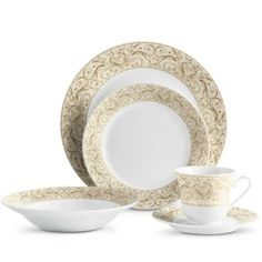 Montalira-Gold Dinnerware Collection Setting for 6..$299.00  sc 1 st  Pinterest & Corsica La Province Dinnerware set of 24 $257.76 | Kitchen ...