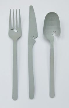 """""""Landscape Cutlery"""" by Design Studio Jorine Oosterhoff. Origami, Hippie Chic Fashion, Ceramic Artists, Art And Architecture, Cutlery, Cool Kitchens, Contemporary Art, Landscape, Tableware"""