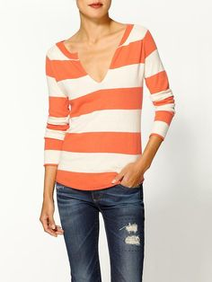 Cozy Rugby Stripe Pullover Sweater by Splendid