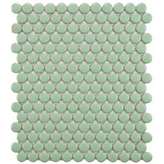 Merola Tile Metro Penny Matte Light Green 9-7/8 in. x 11-1/2 in. x 5 mm Porcelain Mosaic Floor and Wall Tile (7.96 sq. ft. / case)