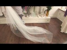 How to bustle a wedding veil - YouTube