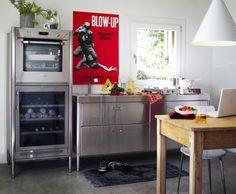 Alpes Inox stainless steel kitchen appliances via Remodelista