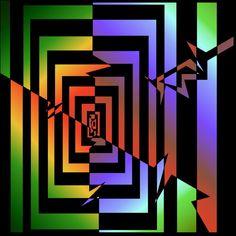 Nano Circuits Visual Illusion pattern