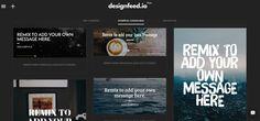 Designfeed es una nueva plataforma que crea contenido magníficamente-rendido, de tamaño para adaptarse a todas las plataformas pertinentes y escalable para llegar a todo publico. En la que tenemos ...