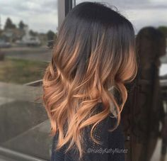 strawberry blonde ombre by Kathy Nunez