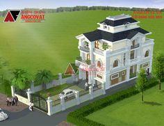 Thiết kế mẫu nhà biệt thự 3 tầng đẹp hiện đại