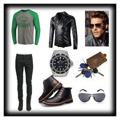 """Bez naslova #17"" by jasmina-ishak ❤ liked on Polyvore featuring Yves Saint Laurent, Rolex, men's fashion and menswear"