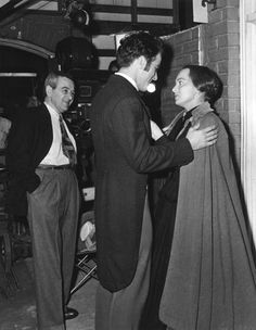 """The Heiress"" Director William Wyler, Montgomery Clift, Olivia de Havilland 1949 Paramount Pictures"