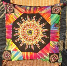 Bright Bold Medallion Pillow Cover Cotton Batik by HannasHopeChest, $38.00                                                 there