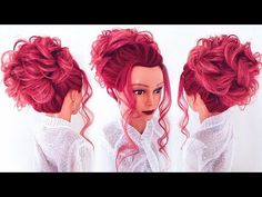 Как сделать высокий пучок? ★ How to: Updo ★ LOZNITSA - YouTube Formal Hairstyles, Cosmopolitan, Hair Inspo, Tangled, Picture Photo, Updos, Hair Makeup, Hair Beauty, Disney Princess
