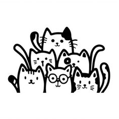 Silhouette Design Store: Llamas Design Store Product ID 294704 Cat Stickers, Bumper Stickers, Logo Gato, Mom Tumbler, Cat Design, Silhouette Design, Cat Gifts, Cat Art, Sticker Design