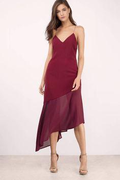 Dresses, Tobi, Wine Two Of A Kind Midi Dress