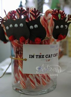More Catherine and Cathy Create inspiration - cute idea for kiddo to give to classmates. Use owl punch.