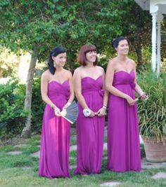 Amsale Bridesmaids in Violet   Jacque Lynn Photo   lavender and     Sell My Wedding   Katietink   Dessy Persian Plum Bridesmaid Dress  preloved   wedding