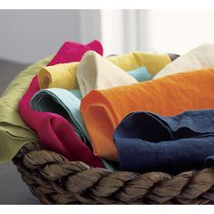 Helena Linen Napkins Sets of Four, One Color| Crate and Barrel