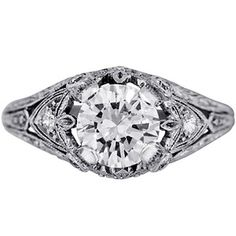 Platinum The Plumosa Ring, top view
