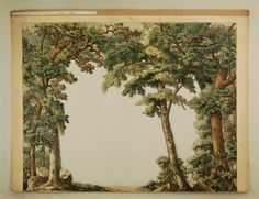 Wald. 3. Kulissenbogen Nr. 101C. [Satzdekoration, großes Format]