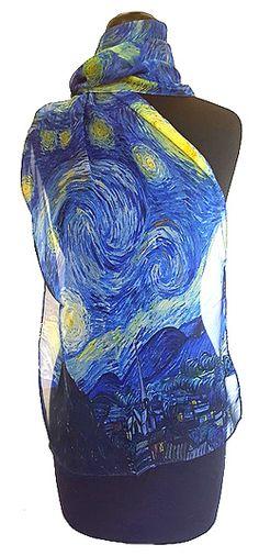 Van Gogh Starry Night Chiffon Scarf