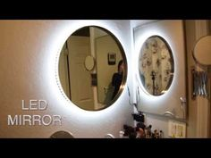 DIY Vanity Mirror w LED Lights, cheap and easy ✧ TesiaBeau. Yo yo yo yo y o! I made this super duper awesome light up mirror for my bathroom to help with my morning makeup application! I love it, it was super affordable, and FAST. no messing around with Diy Bathroom, Diy Vanity Lights, Diy Mirror, Diy Vanity Mirror, Led Diy, Diy Vanity, Bathroom Design, Diy Lighting, Led Lighting Diy