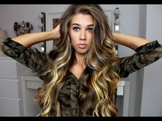 Big loose curls / Victoria's Secret soft waves (rus)...not in English, but it doesn't really need to be. Just a side note:this chick is amazingly beautiful