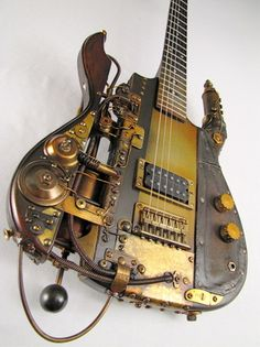 Steampunk guitars by Tony Cochran Custom Electric Guitars