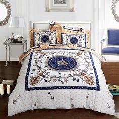 keys print duvet cover set bedlinens high quality thick sanding cotton Queen King size bedding sheets #Affiliate
