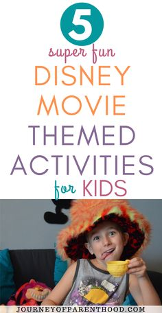 5 Super Easy and Super Fun Disney Movie Themed Activities, Crafts, Snacks, Meals, and Other Ideas for a Family Fun Night or Summer Idea! Disney Games For Kids, Disney Activities, Disney Snacks, Disney Food, Activities For Kids, Disney Day, Disney Plus, Disney Trips, Disney Movies