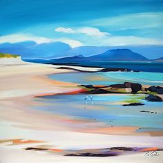 """Lowtide Colours To Uist 24""""x24"""""""