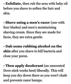 http://www.cosmopolitan.co.uk/beauty-hair/tips/a34780/how-to-prevent-shaving-rash-bikini-line/