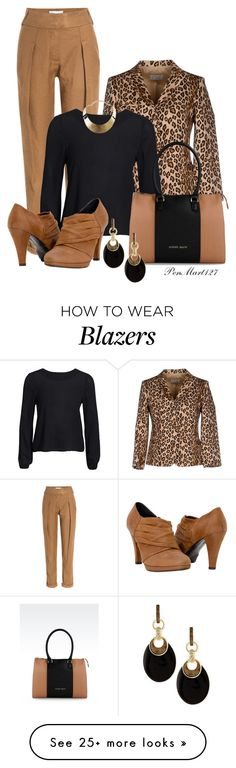"""""""Leopard Blazer"""" by penny-martin on Polyvore featuring Donna Karan, Alberto Biani, NLY Trend, Armani Jeans, Alexis Bittar and GUESS"""