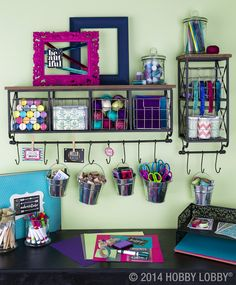 One bright-and-flashy, organized-to-the-nines craft room coming right up!