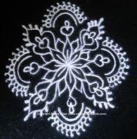 black and white rangoli design