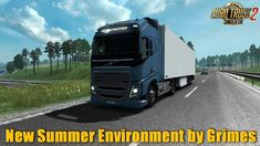 Mod New Summer Environment by Grimes for Terrain Texture, Road Texture, American Truck Simulator, New Mods, Environmental Graphics, Dark Night, Summer, Summer Time, Verano