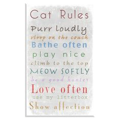 Cat Rules Framed Print III