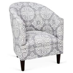 Check out this item at One Kings Lane! Ashlee Cotton Tub Chair, Gray/White