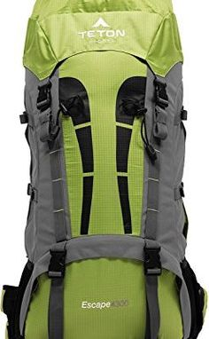 b315adce3a6 TETON Sports Escape 4300 Ultralight Internal Frame Backpack Backpacking  Gear Hiking Backpack for Camping Hunting Mountaineering and Outdoor Sports  Free Rain ...