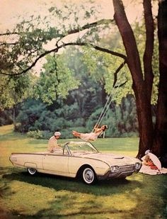 Retro Cars, Vintage Cars, Retro Vintage, Thunderbird Car, Old Fashioned Cars, Antique Pictures, Yellow Car, Old Classic Cars, Brand Inspiration